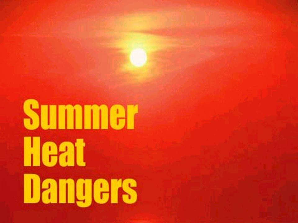 Classic Heatstroke Occurs primarily in epidemics during summer heat waves Most likely to effect the elderly and patients with serious underlying illnesses Infants also at risk Typical victim confined at home w/no fan or A/C Dehydration - predisposing factor