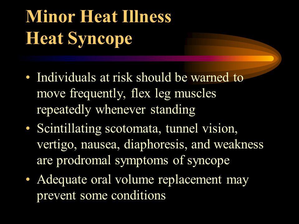 Treatment of early complications of Heat Stroke Shivering Convulsions Myoglobinuria Acidosis Hypokalemia Hypocalcemia