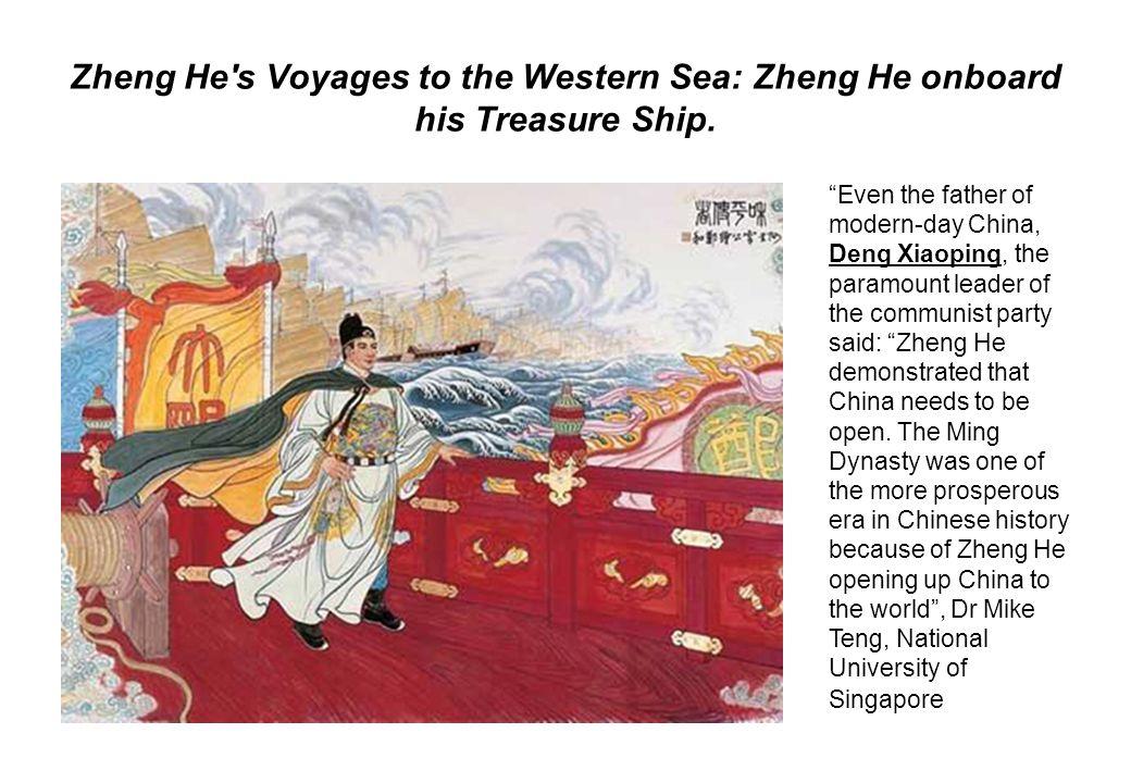 Zheng He s Voyages to the Western Sea: Zheng He onboard his Treasure Ship.