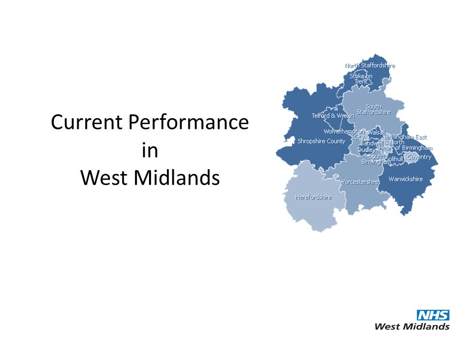 Current Performance in West Midlands