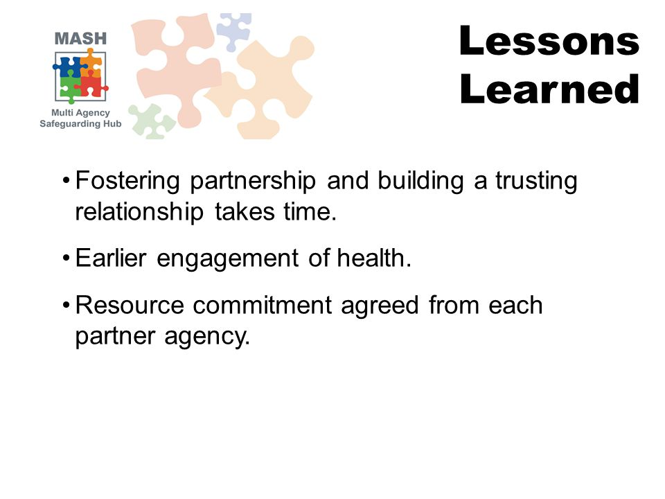 Fostering partnership and building a trusting relationship takes time.