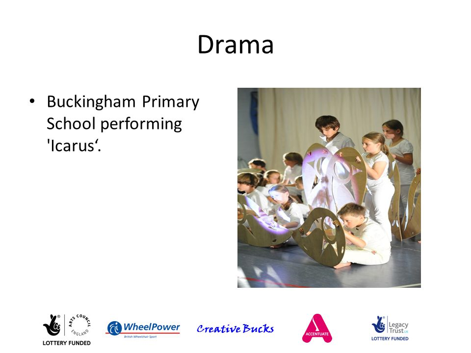 Creative Bucks Drama Buckingham Primary School performing 'Icarus'.