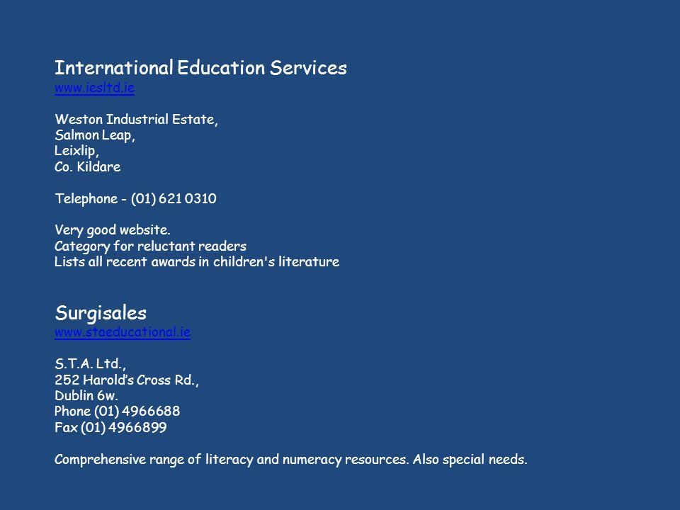International Education Services www.iesltd.ie Weston Industrial Estate, Salmon Leap, Leixlip, Co.