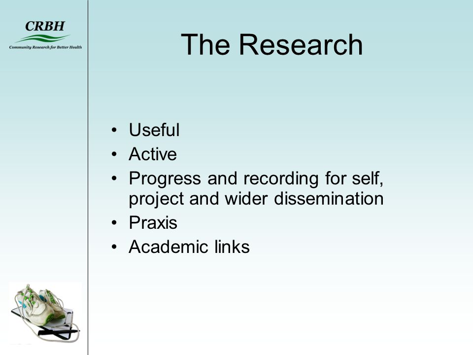 The Research Useful Active Progress and recording for self, project and wider dissemination Praxis Academic links