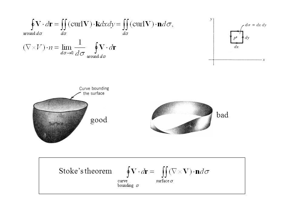 Stoke's theorem good bad