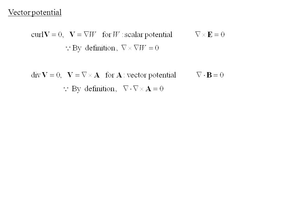 Vector potential