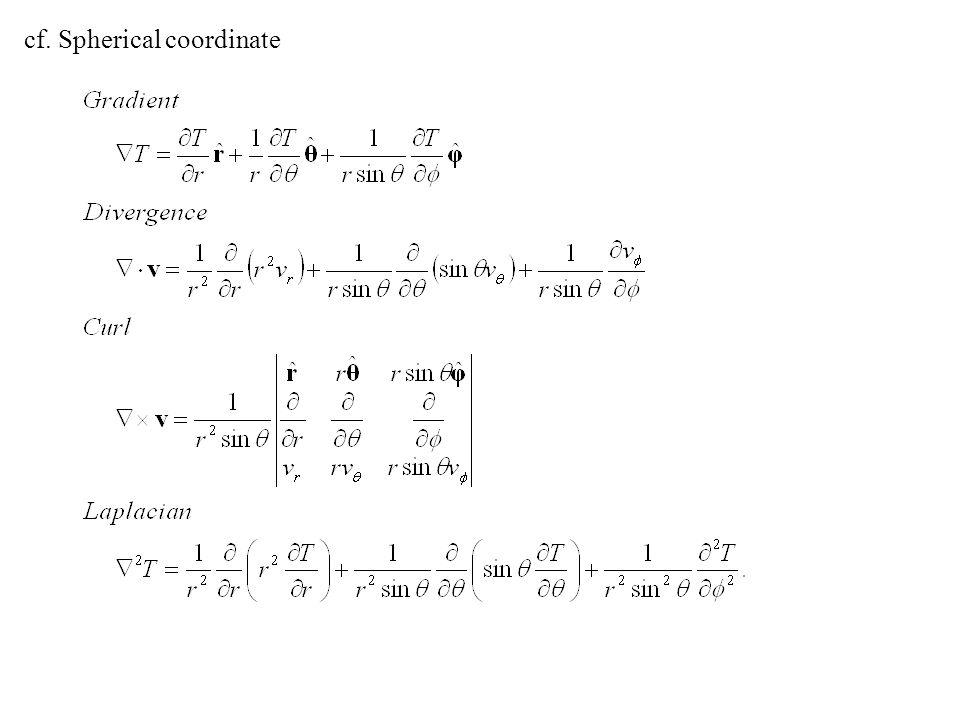 cf. Spherical coordinate
