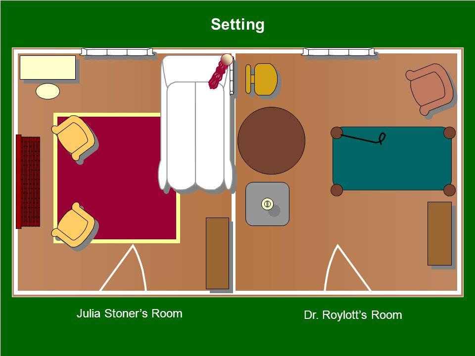 Julia Stoner's Room Dr. Roylott's Room Setting