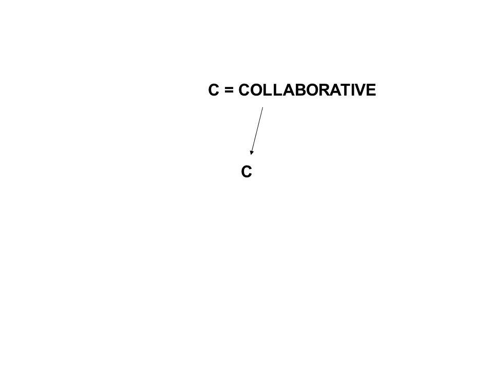 C C = COLLABORATIVE