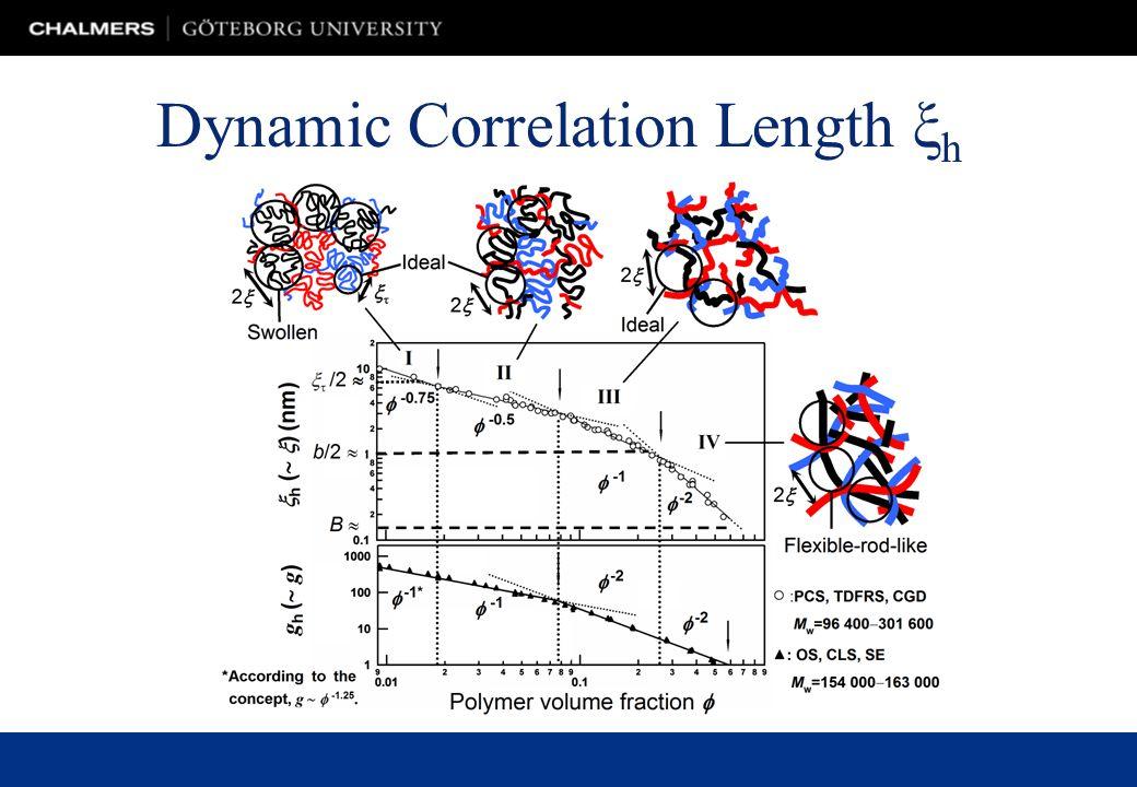 Dynamic Correlation Length ξ h