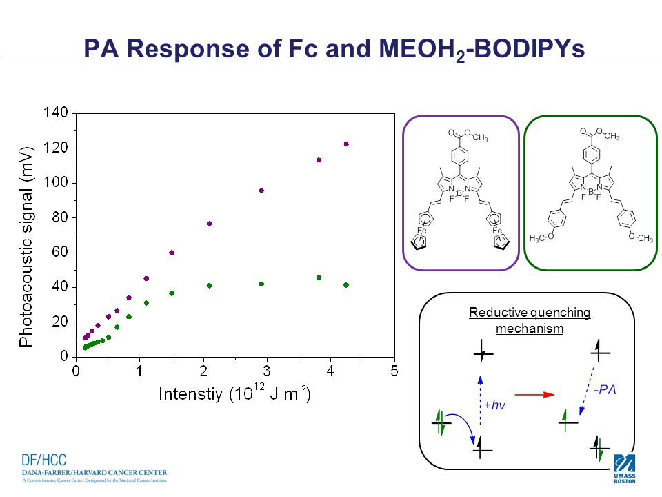 PA Response of Fc and MEOH 2 -BODIPYs Reductive quenching mechanism