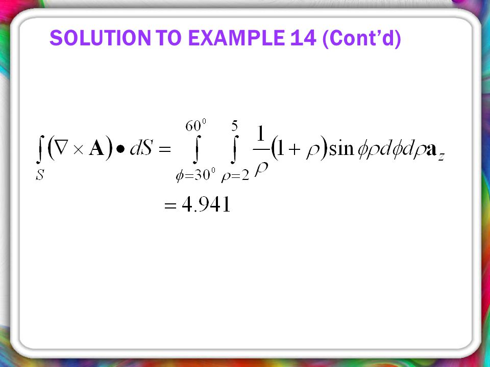 SOLUTION TO EXAMPLE 14 (Cont'd)