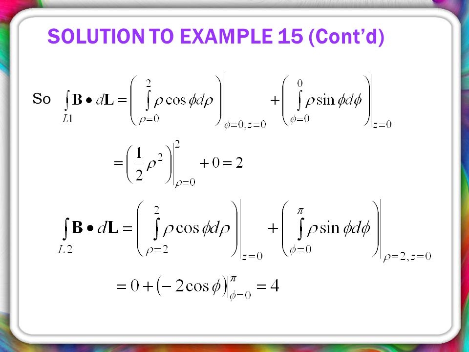 So SOLUTION TO EXAMPLE 15 (Cont'd)