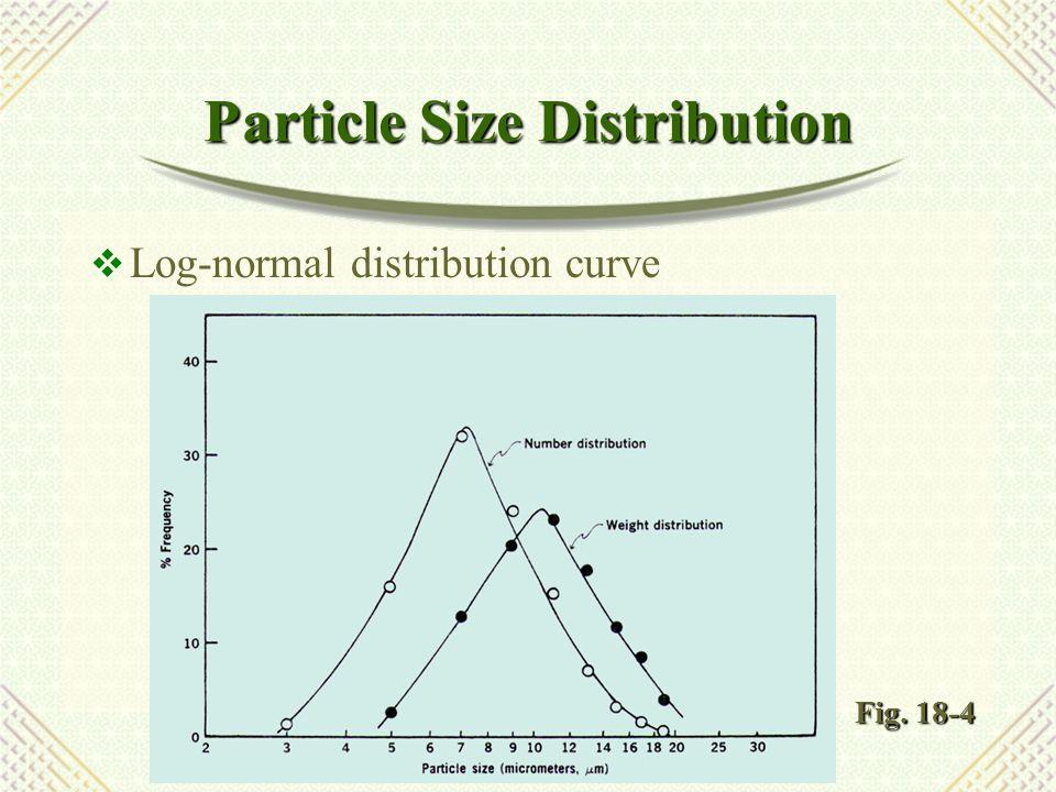 Particle Size Distribution  Log-probability curve Fig. 18-5