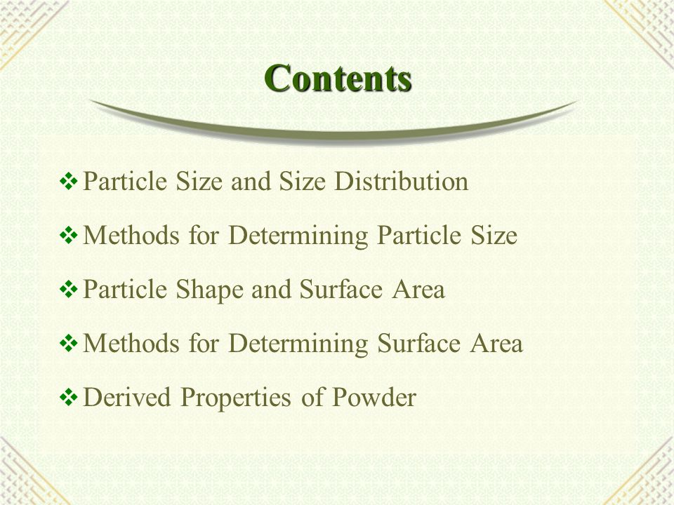 Micromeritics  Science and technology of small particles