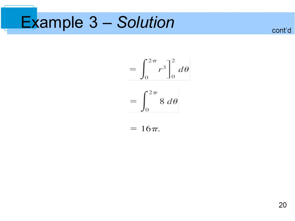 20 cont'd Example 3 – Solution