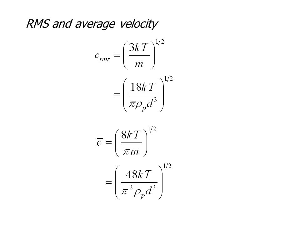 RMS and average velocity