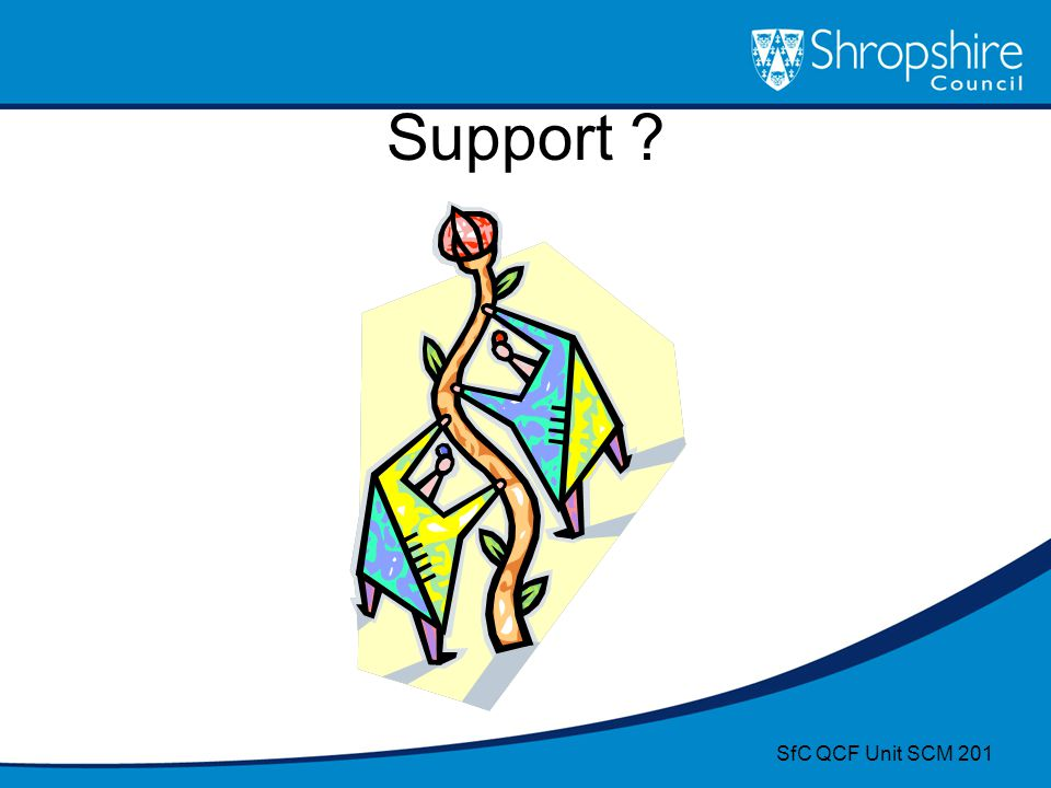 Support ? SfC QCF Unit SCM 201