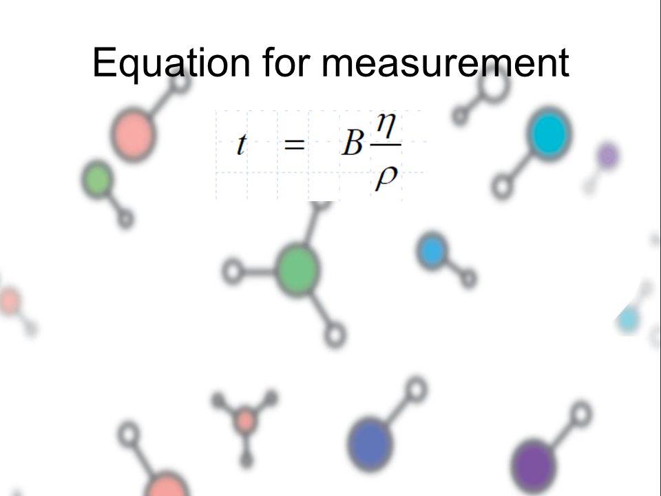 Equation for measurement