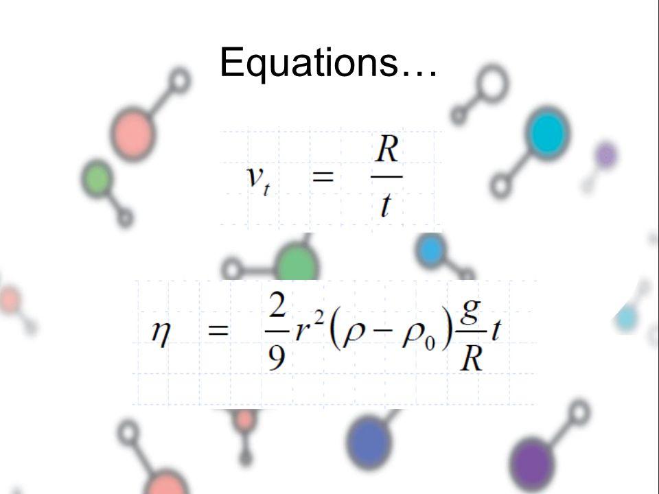 Equations…