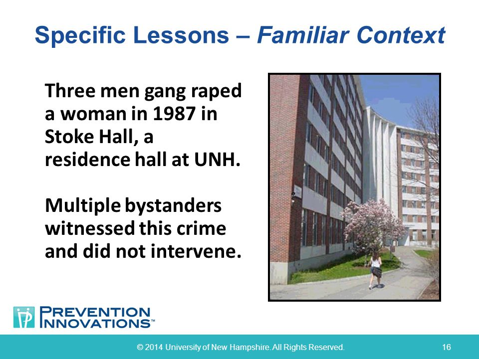 Specific Lessons – Familiar Context © 2014 University of New Hampshire.
