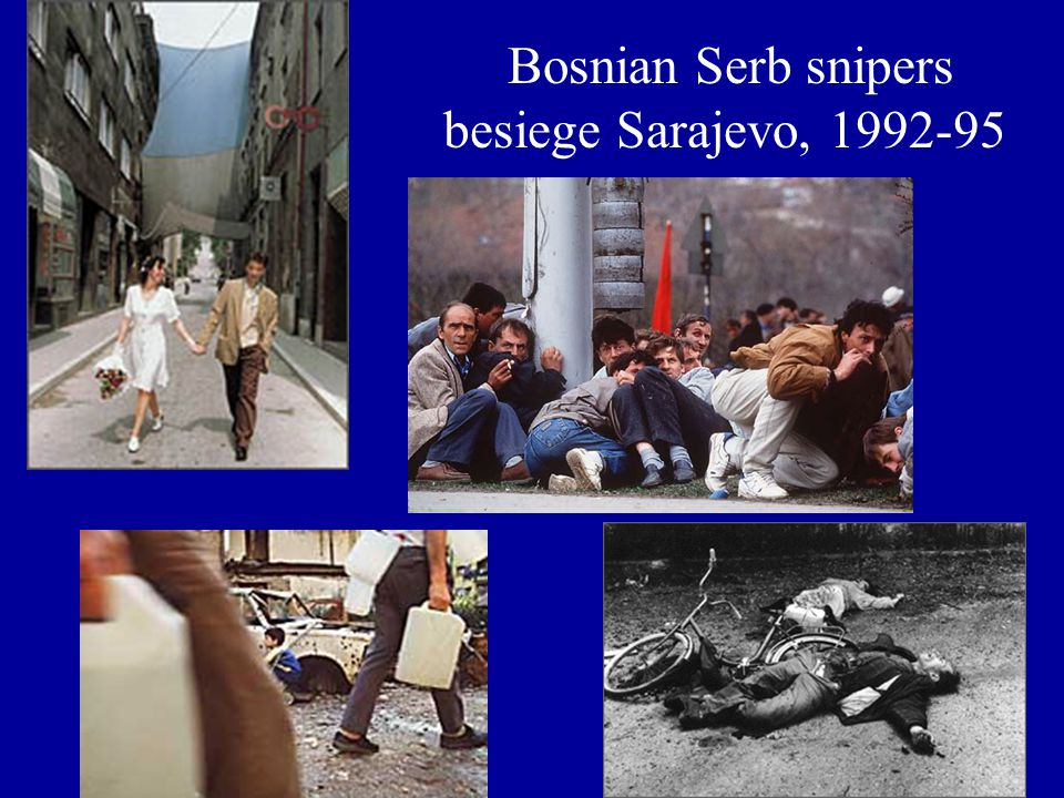 Bosnian Serb snipers besiege Sarajevo, 1992-95