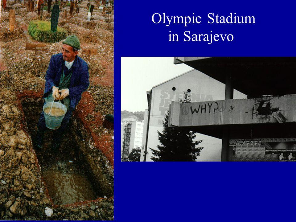 Olympic Stadium in Sarajevo