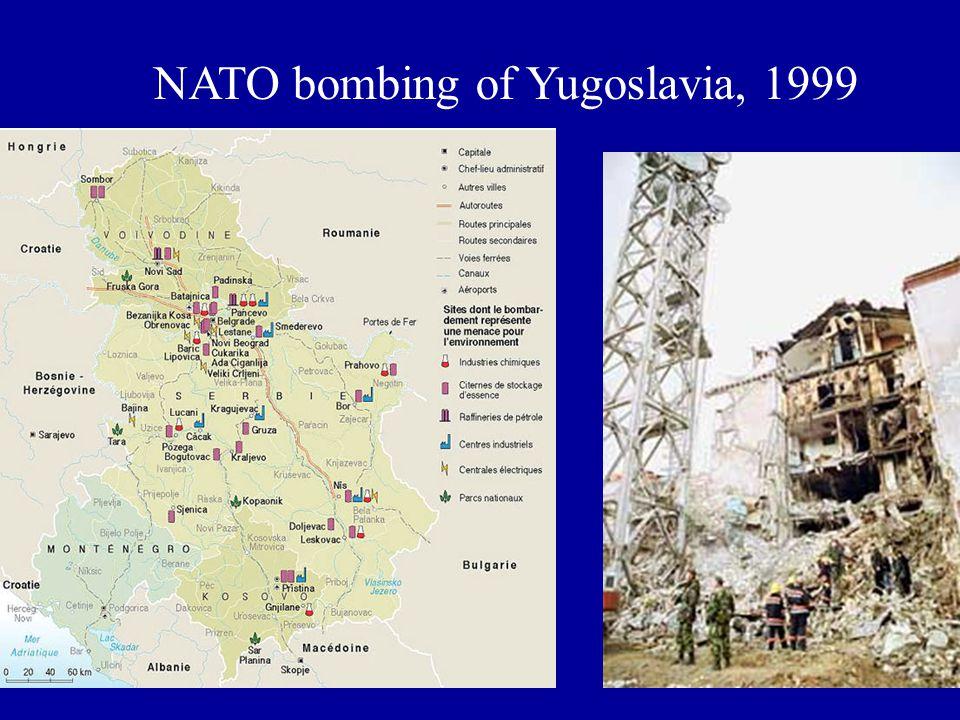 NATO bombing of Yugoslavia, 1999