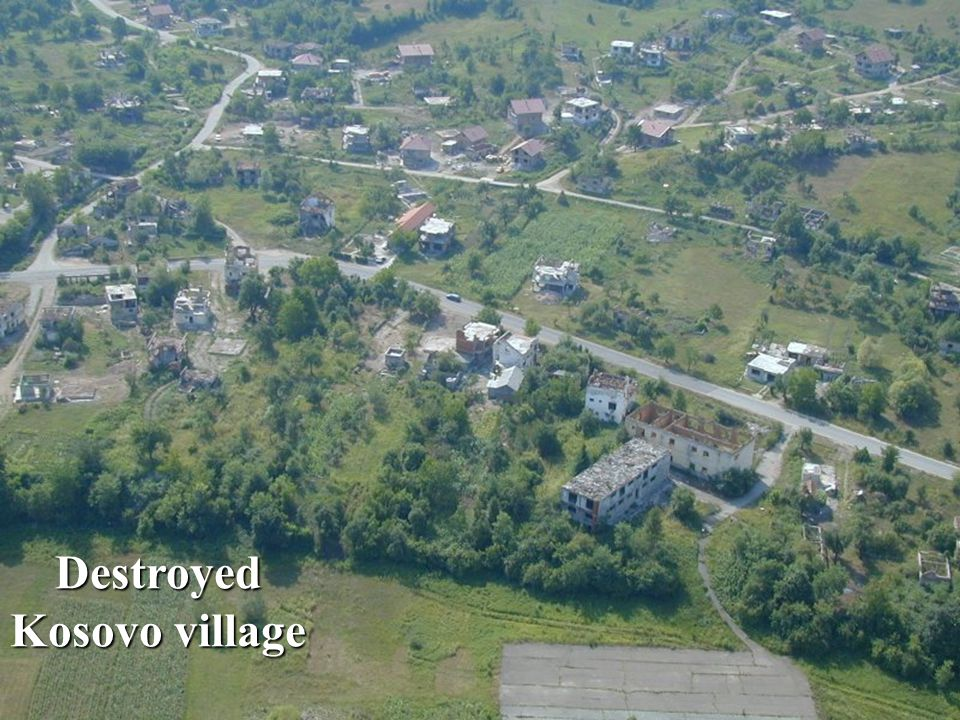 Destroyed Kosovo village
