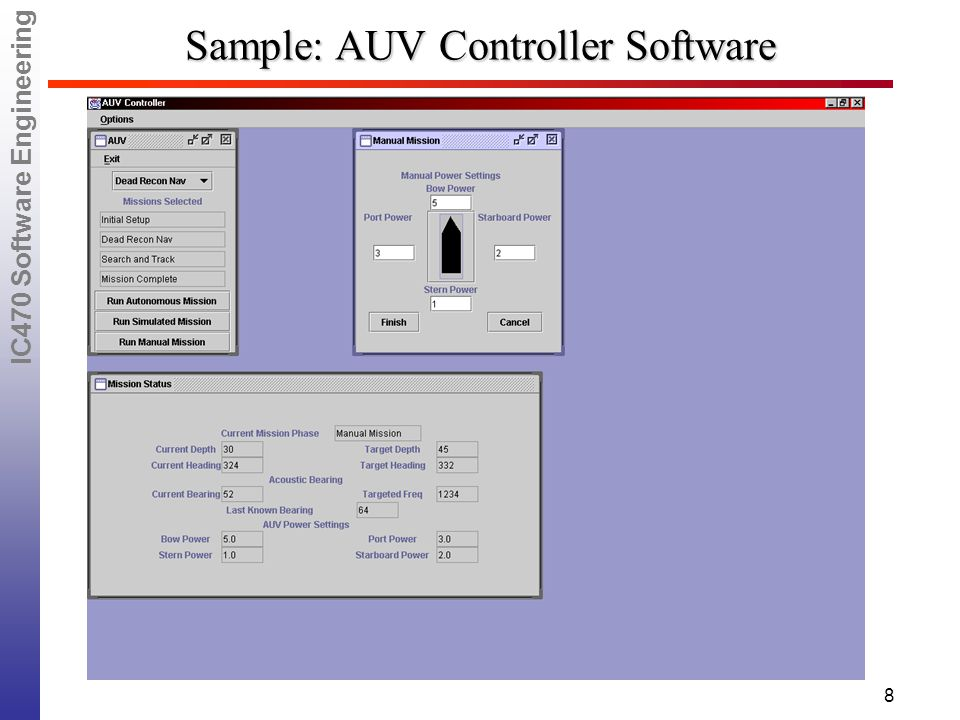 IC470 Software Engineering 8 Sample: AUV Controller Software