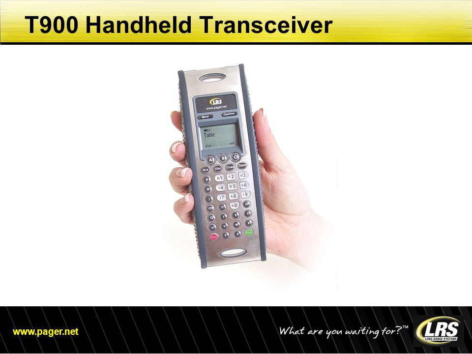 www.pager.net T900 Handheld Transceiver