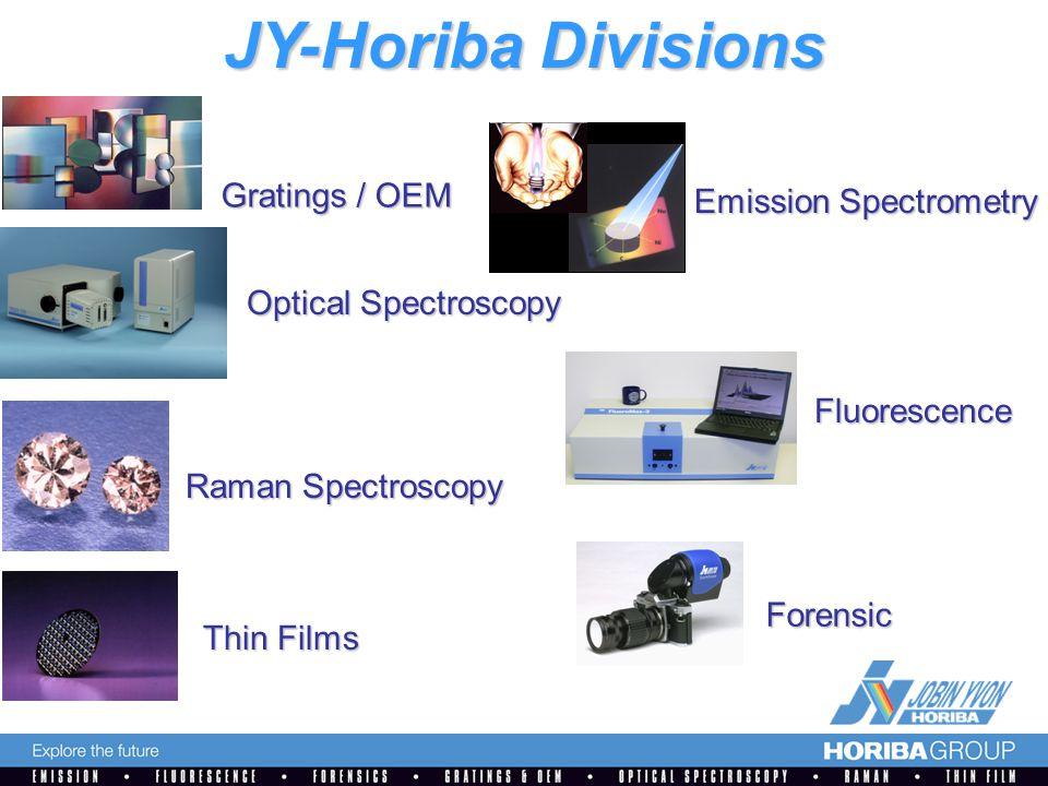 Gratings / OEM Thin Films Emission Spectrometry Raman Spectroscopy Forensic Fluorescence JY-Horiba Divisions Optical Spectroscopy