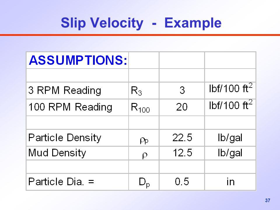 37 Slip Velocity - Example
