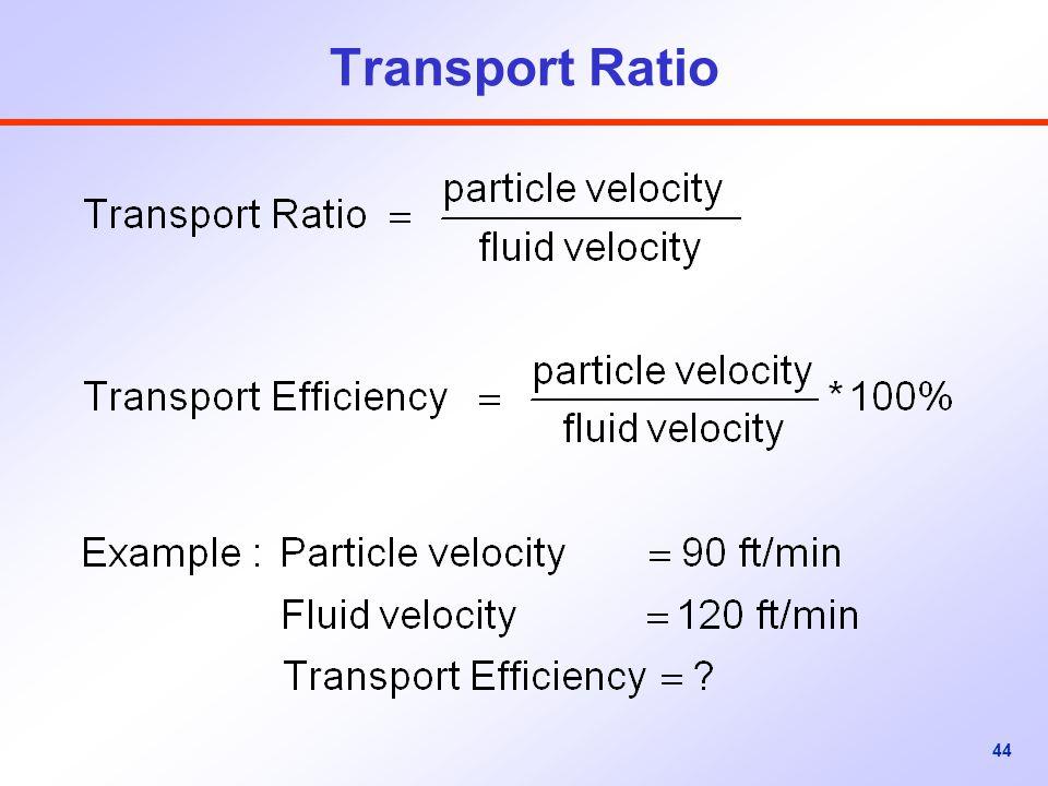44 Transport Ratio