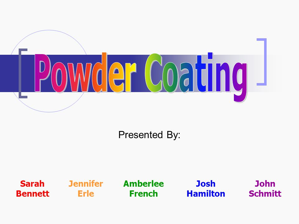 Powder coating is a dry finishing process, using fine particles of paint, which are electrostatically charged and sprayed onto a workpiece.