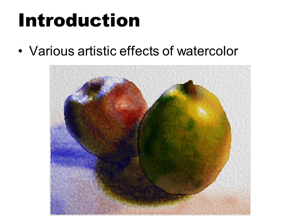 Related work Simulating artists' traditional media and tools –Watercolor : [David Small 1991] –Sumie : [Guo and Kunii 1991] Commercial package –Fractal Design Painter