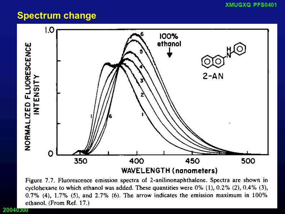 20040300 XMUGXQ PFS0401 Spectrum change
