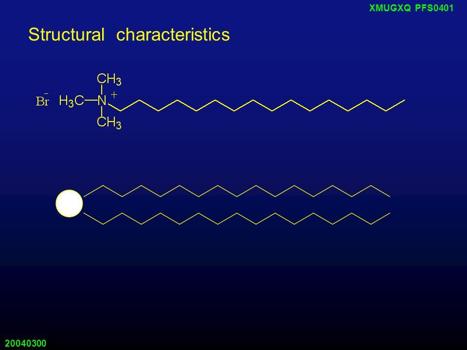 20040300 XMUGXQ PFS0401 Structural characteristics