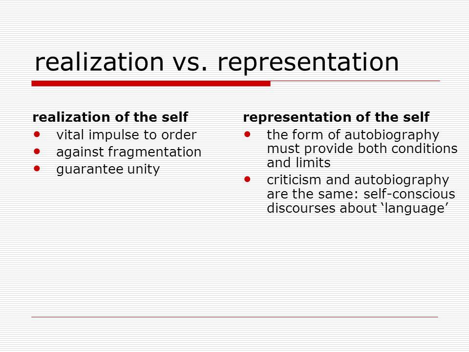 realization vs.
