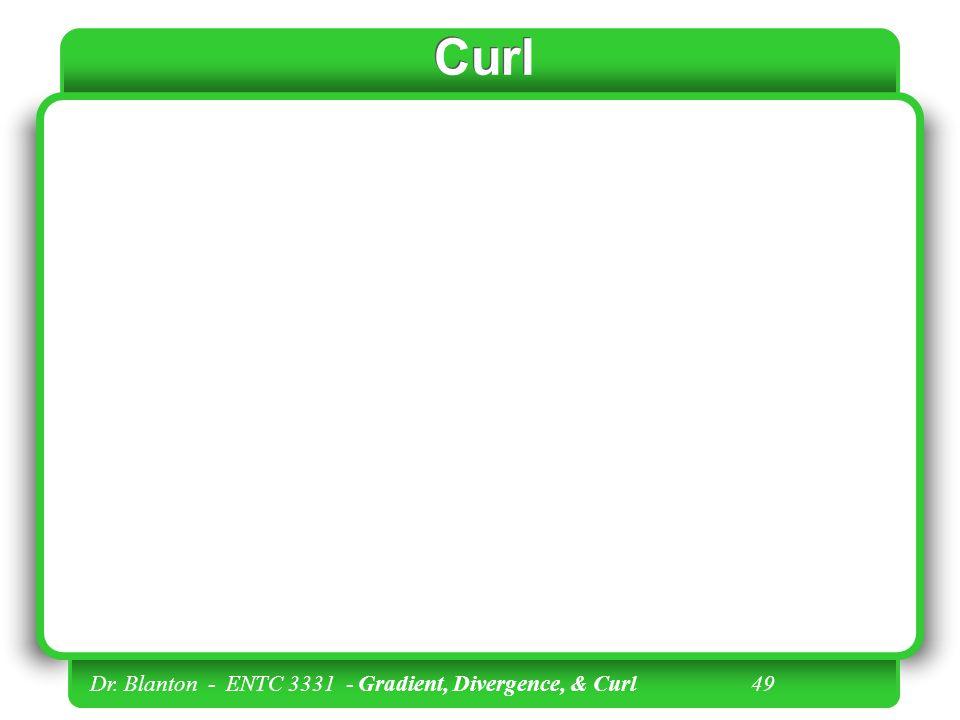 Dr. Blanton - ENTC 3331 - Gradient, Divergence, & Curl 48