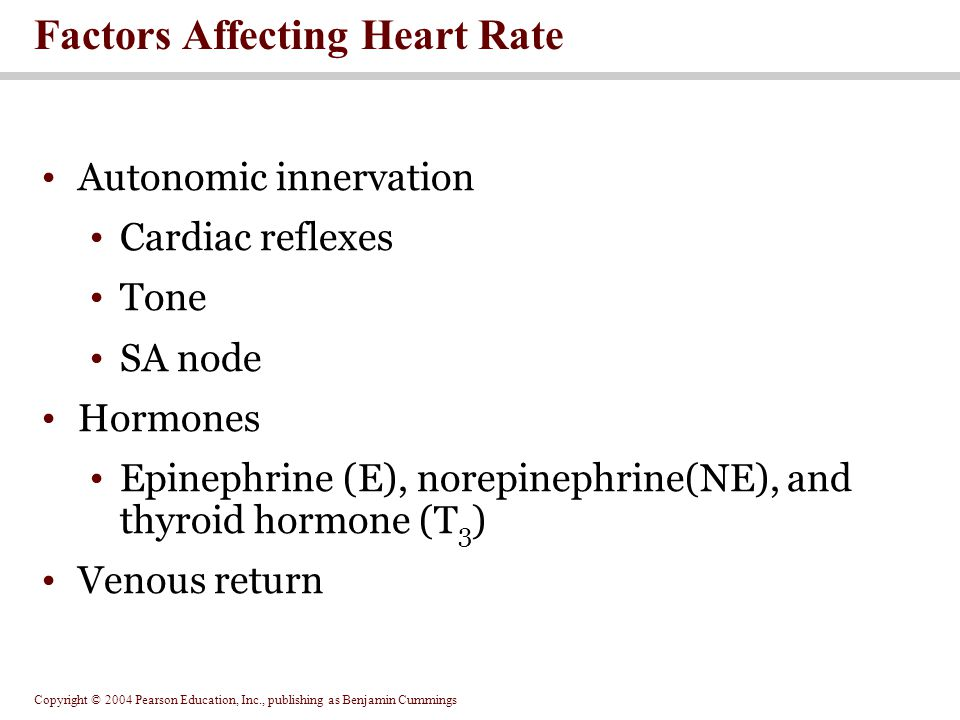 Copyright © 2004 Pearson Education, Inc., publishing as Benjamin Cummings Figure 20.20 Factors Affecting Cardiac Output Figure 20.20