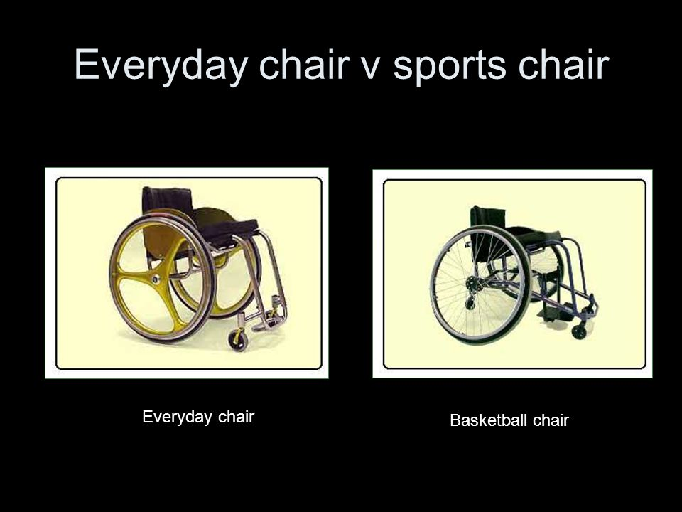 Everyday chair v sports chair Everyday chair Basketball chair