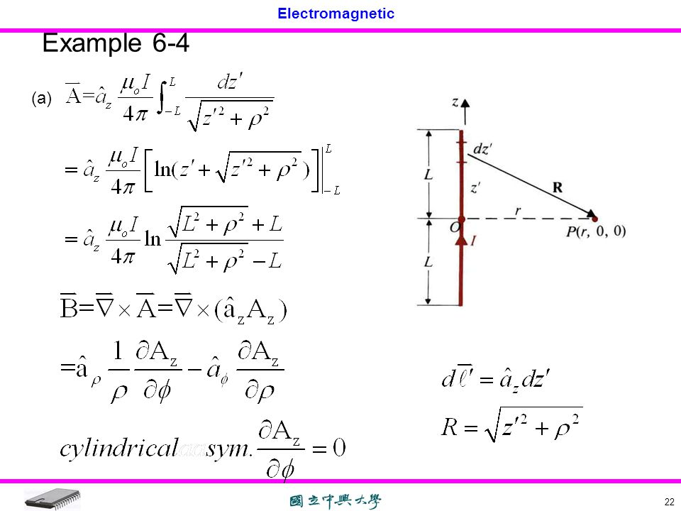Electromagnetic 22 Example 6-4 (a)
