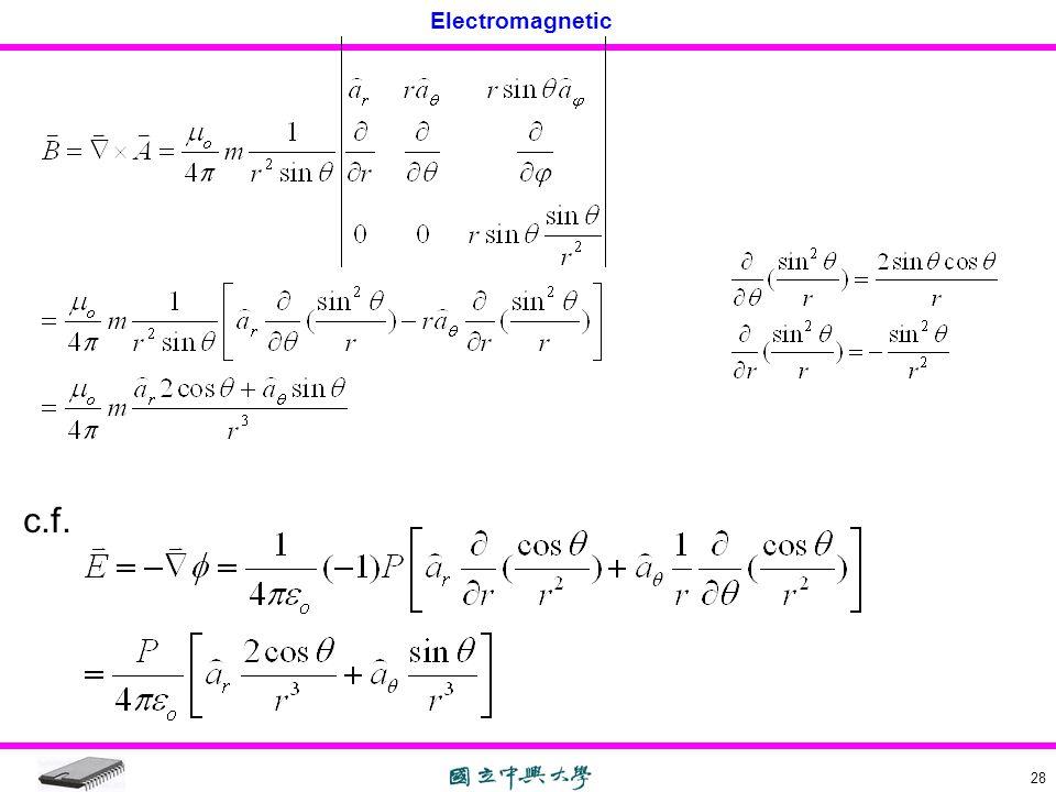 Electromagnetic 28 c.f.