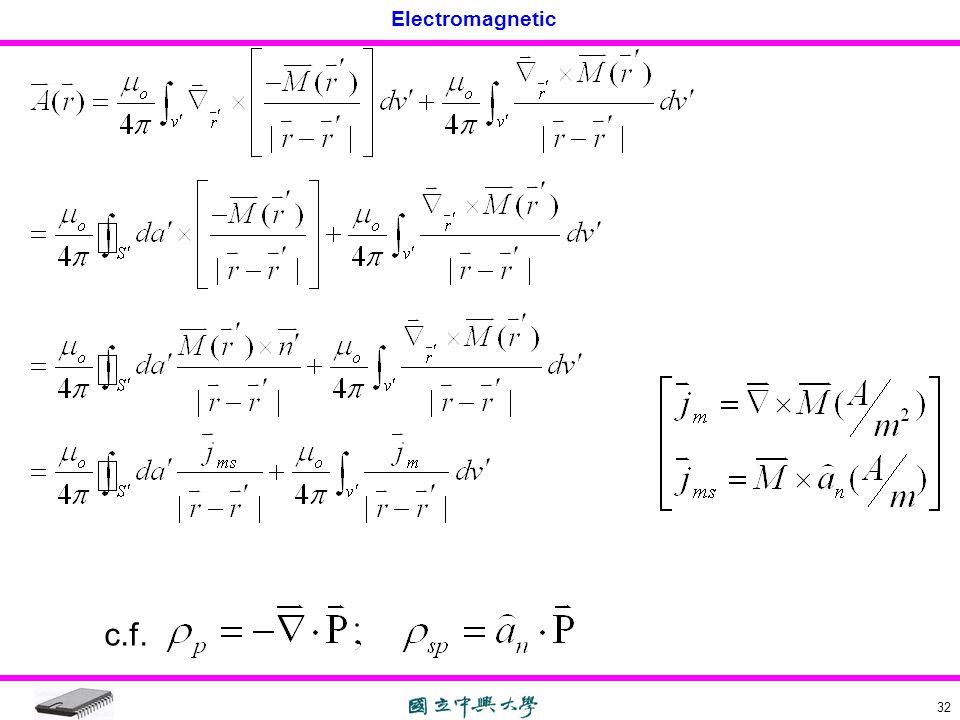 Electromagnetic 32 c.f.