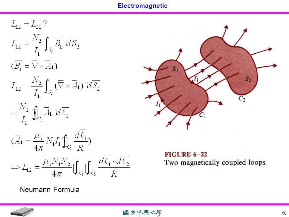 Electromagnetic 56 Neumann Formula