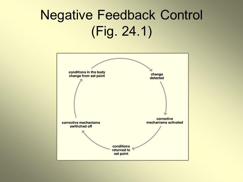 Negative Feedback Control (Fig. 24.1)