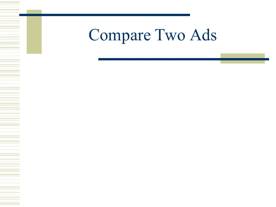 Compare Two Ads