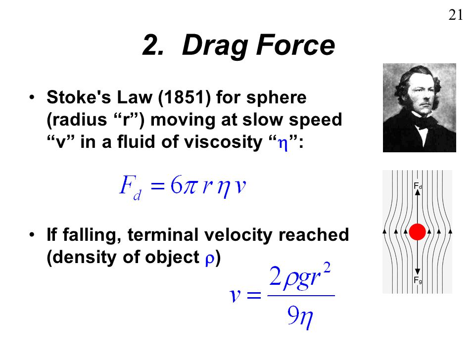 2.Viscometer Measure viscosity of fluid from terminal velocity ( settling velocity ) of object.