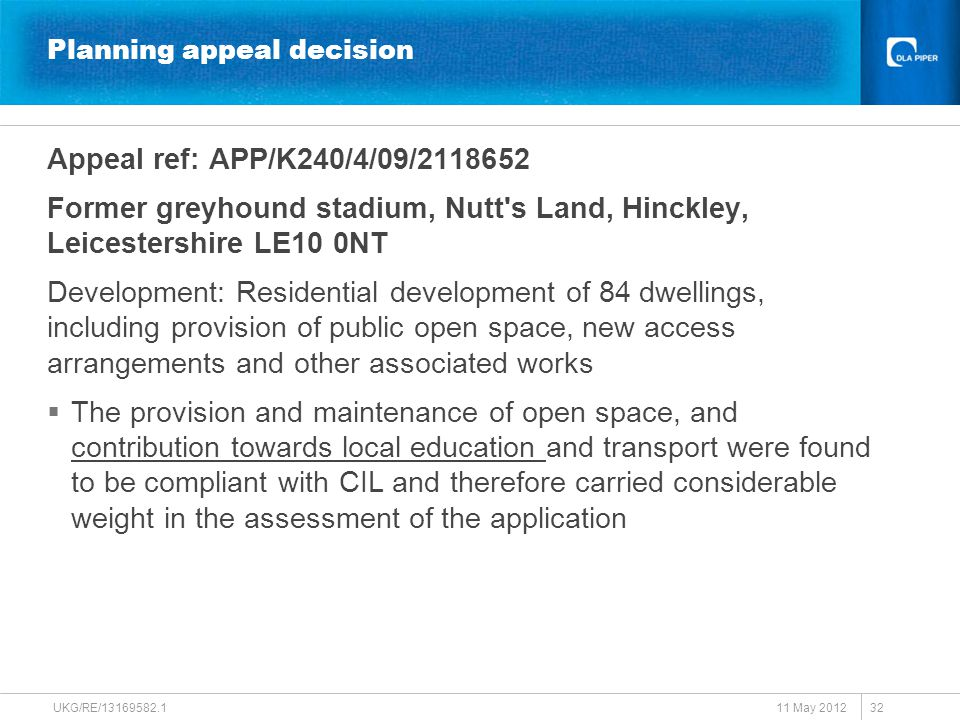 Planning appeal decision Appeal ref: APP/K240/4/09/2118652 Former greyhound stadium, Nutt's Land, Hinckley, Leicestershire LE10 0NT Development: Resid